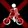 fietsen kruis rood