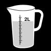 maatbeker 2 liter 2