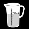 maatbeker 750 ml