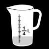 maatbeker kwart liter 2