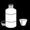 medicatie fles maatbekertje