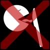mes likken kruis rood