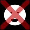 mond open hangen 3 kruis rood