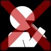 mond steken potlood 2 kruis rood