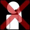 mond steken scherp voorwerp kruis rood