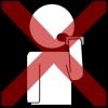 mond steken voorwerp kruis rood