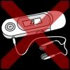 mp3 speler kruis rood