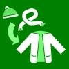 muts en sjaal in mouw groen