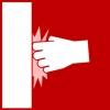 muur slaan rood