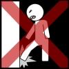 muur stampen kruis rood