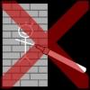 muur tekenen kruis rood