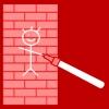 muur tekenen rood