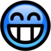 glossy_smiley_blue_toothy_smile