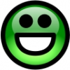 glossy_smiley_green_smile
