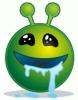 smiley_green_alien_drooling