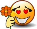 smiley_holding_flower