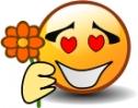 smiley_holding_flower