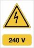 Elektrisch gevaar240 V