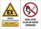 Explosieve omgeving - Vuur, open vlam en roken verboden