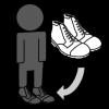 schoenen aandoen